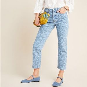 Levi's Wedgie Leopard Ultra High-Rise Jeans NWT 32